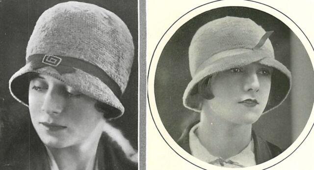 Vintage Visage repro crochet patterns- 2 1920s stylish flapper hats to make