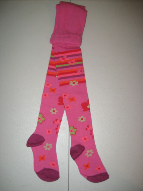 COUNTRY KIDS Graphic Flower Cotton Footed Tights 1 to 8 years NWT