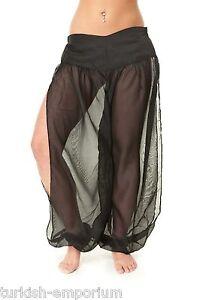 Belly-Dance-Chiffon-Harem-Pants-for-Dancing-Tribal-Dancer-Costume-Leggings-NEW