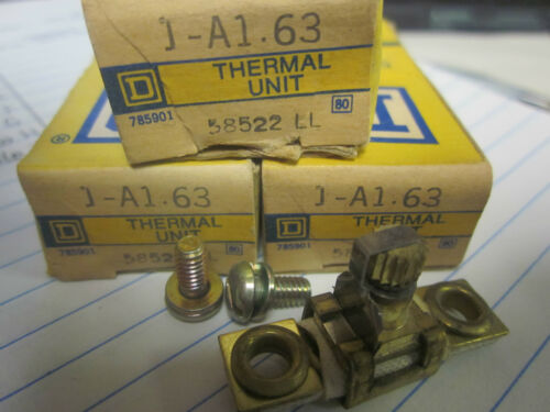 NEW LOT OF 3 SQUARE D OVERLOAD RELAY THERMAL UNITS A1.63..XT16K