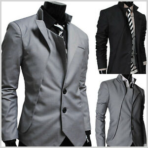 NJK-TheLees-Slim-Fit-Mens-Unbalance-2-button-china-collar-Unique-jacket