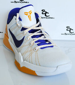 Nike-Zoom-Kobe-VII-7-Lakers-Home-low-mens-basketball-shoes-NEW-white-orange