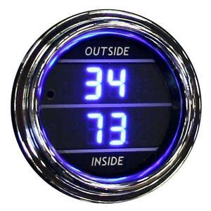 Inside Outside Air Temperature Blue Truck Teltek Gauge