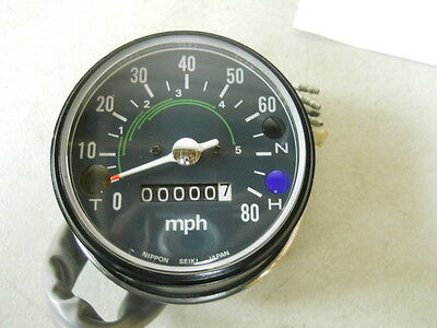 Honda NOS CB125, CL100, CL125, Speedometer Assembly, # 37200-324-670    L