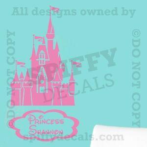 Princess fairy castle disney personalized quote vinyl wall decal decor