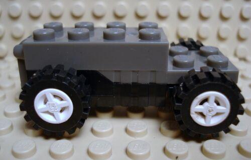 LEGO LEGOS  -  One  Dark Gray Pullback Motor 6x2x1 2/3 with Black Base, w/Wheels