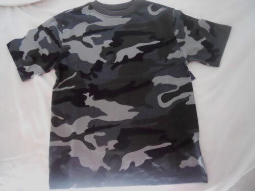 Boys Camo Tee Shirts Size XS S M L XL XXL Short Sleeve Crew Children Kids
