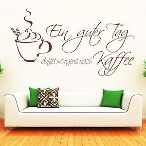 10091 wandtattoo loft wandtattoo aufkleber schriftzug kaffee duft guter tag ebay. Black Bedroom Furniture Sets. Home Design Ideas