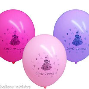 21-Pink-Magenta-Lavender-LITTLE-PRINCESS-Printed-Latex-Balloons