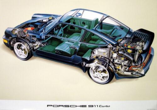 Porsche 924 Classic Car Poster Prints Picture A1 928, 944, 911 SC Turbo