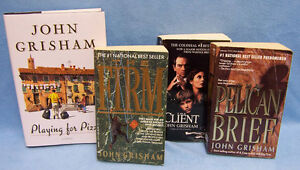 Lot-4-John-Grisham-Books-The-Client-The-Firm-Pelican-Brief-Playing-for-Pizza