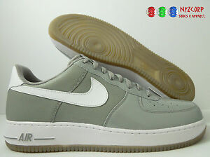 NIKE AIR FORCE 1 GREY-WHITE SIZE 14 [315122-052]