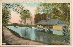 Scene-in-Fairview-Park-Indianapolis-Indiana-IN-Postcard