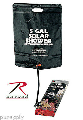 SOLAR HOT SHOWER 5 GALLON 18 LITERS FOR CAMPING HIKING ROTHCO 540
