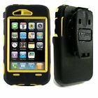 New OEM AT&T Apple iPhone 3G/3GS Yellow/Black Otterbox Defender Series Case - Bulk Packaged
