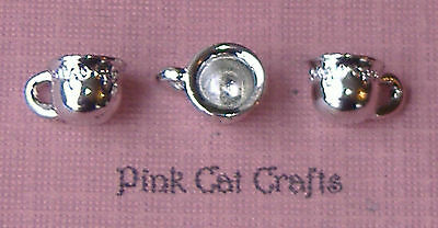 5 x CUP MUG COFFEE TEA BABY Tibetan Silver 3D Charms Pendants Beads