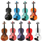 New Crescent Violin/fiddle ~full Size 4/4~w/ Case &bow