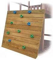 SWING SET ROCK WALL KIT SEAT SLIDE PLAYGROUND KIDS WOOD HARDWARE CLIMB FUN 0103
