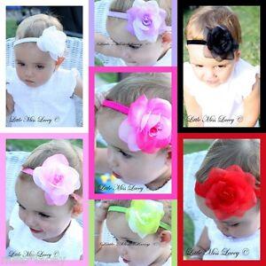 Baby-Girls-Rose-Flower-Headband-wedding-Christening-Bridal-Little-Miss-Lacey