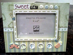 """The Perfect """"Sweet Pea"""" Photo Frame for Your New Arrival -- NEW"""