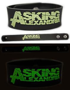 ASKING-ALEXANDRIA-Rubber-Bracelet-Wristband-Glows-in-The-Dark