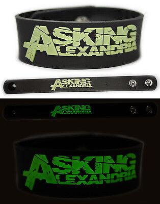 ASKING ALEXANDRIA Rubber Bracelet Wristband Glows in The Dark