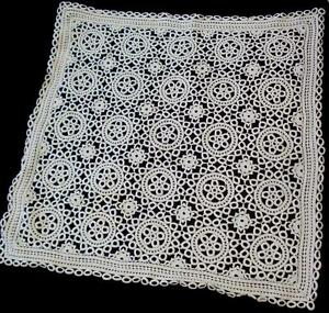 VINTAGE-HAND-KNITTED-CROCHET-DOILY-TABLE-COVER