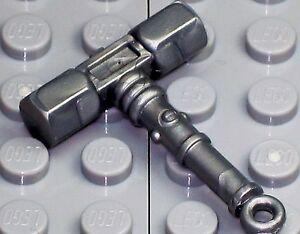 A819-NEW-Lego-CASTLE-NINJAGO-Weapon-Custom-Midevil-TRUE-SILVER-BATTLE-WAR-HAMMER