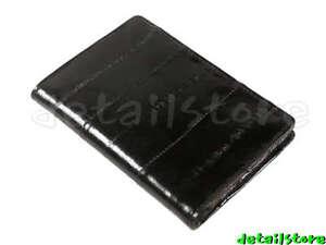 New-EEL-SKIN-Credit-Business-Card-id-Loading-Holder-Case-Wallet-Carrier-BLACK