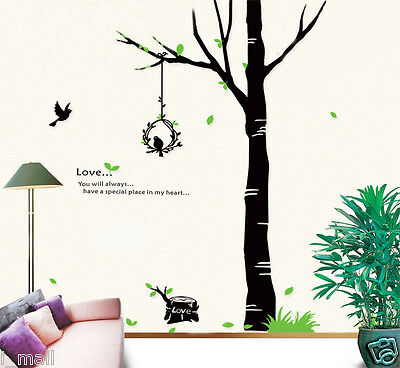 2 M High Tall Tree  Wall Art Wall Sticker Decal Decor for Home, Business