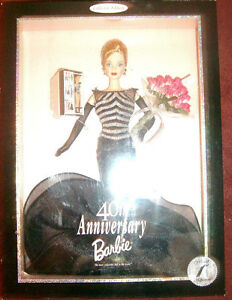 40th Anniversary Barbie OFFICIAL 1st SHIPMENT 1999 Seal RARE