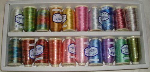 Marathon Embroidery Machine Thread Rayon Kaleidoscope Box Set Ombre//Multi Dyed