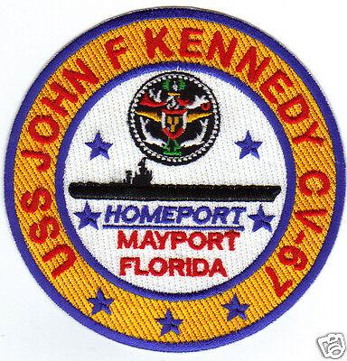 US NAVY SHIP PATCH, USS JOHN F. KENNEDY, CV-67           Y