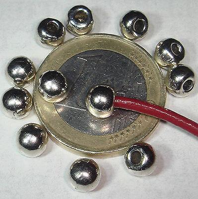 200 Terminales Redondos 5mm  T151 - 1 Agujero de 2mm Plata Tibetana End Caps