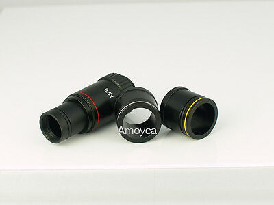 0.5X C-mount microscope adapter ,relay lens,23.2mm,30mm,30.5mm, eyepiece,camera