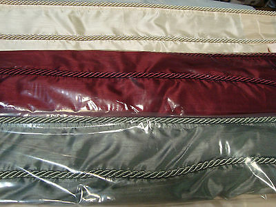 """JCPenney ROMAN BALLOON SOFT SHADE BEADED TRIM Merlot Gold Ivory or Olive 64""""L"""