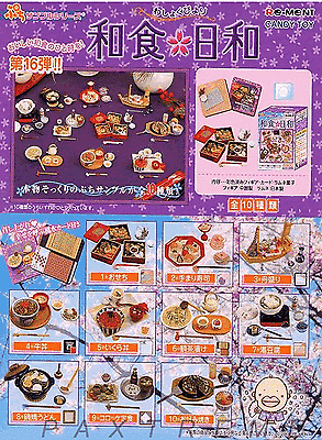 Re-ment #16 miniature Japanese Food Tableware 10 set  RETIRED / RARE 2004