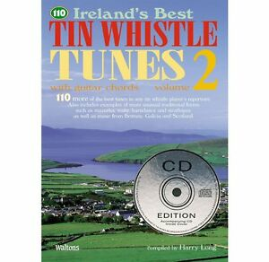 110-Ireland-039-s-best-tin-whistle-tunes-Vol-2-Irish-Tutor-Book-with-CD-included