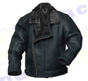 Black Sheepskin Flying Jacket J3WMZS