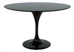 Image Is Loading Moderntomato 36 034 Round Black Fiberglass Tulip Table