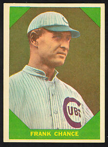 1960-FLEER-BASEBALL-GREATS-50-FRANK-CHANCE-NY-YANKEES-SHARP-1898-1914-NM-HTF