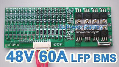 48V 60A LiFePo4 Battery BMS LFP PCM SMT System 16S 16x 3.2V eBike Battery 16x 3V
