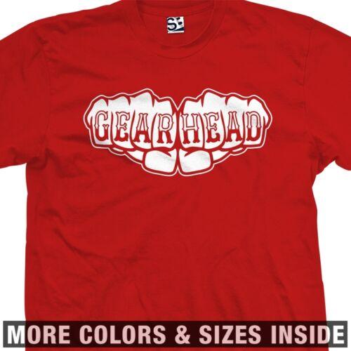 Knuckle Tattoo Mechanic Motorhead GearHead All Colors Gear Head Fist  T-Shirt