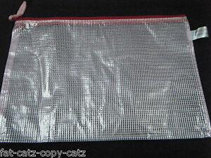 1x-PLASTIC-ZIPPY-BAGS-B5-SIZE-FILE-STORAGE-DOCUMENT-ART-FOLDERS-METAL-ZIP-UKSELL