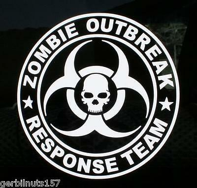Zombie Outbreak Response Team Decal m&p 15 22 troy tactical support sticker