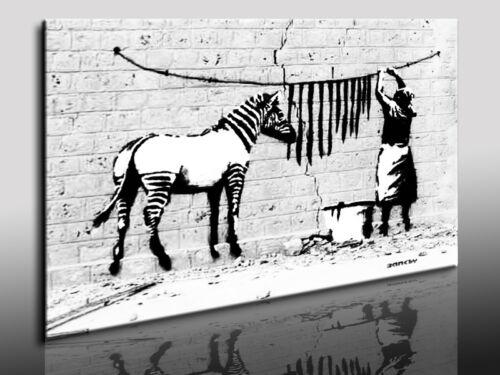 Leinwandbild Banksy Graffiti Street Art - Kunstdrucke Wandbilder Bilder k Poster