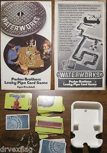 Vintage-1972-WATERWORKS-Parker-Bros-Leaky-Pipe-Card-Game-770-RARE