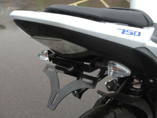 Suzuki GSR750 11-16 SP Engineering Tail Tidy + Black Arrow Indicators x 2 Pairs