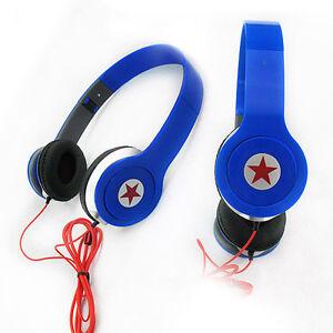 New-Blue-Headphone-Stereo-Headset-Earphone-Foldable-For-DJ-PSP-MP3-MP4-PC-3-5mm