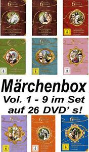 26-DVDs-MARCHENBOX-6-SECHS-AUF-EINEN-STREICH-SET-VOL-1-9-NEU-OVP-gt